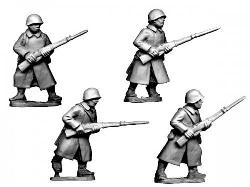 Crusader Miniatures: Russian Infantry in Greatcoats I (4)