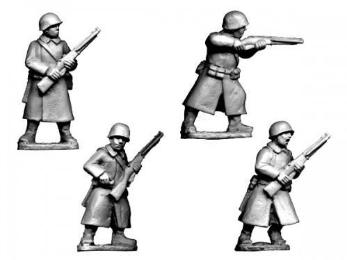 Crusader Miniatures: Russian Infantry in Greatcoats II (4)