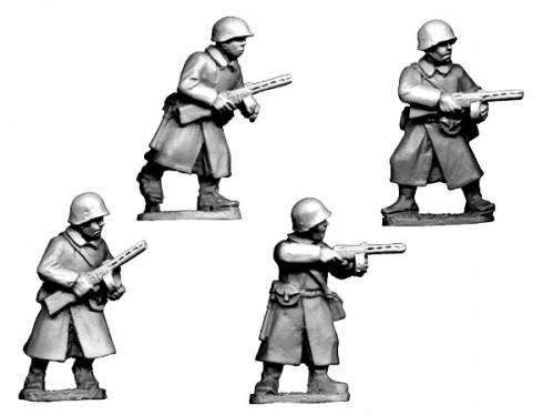 Crusader Miniatures: Russian SMG Infantry in Greatcoats (4)