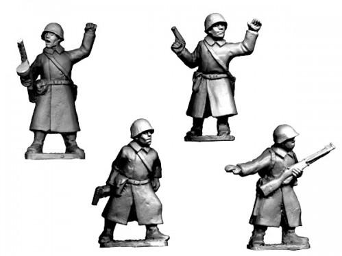 Crusader Miniatures: Russian Command in Greatcoats (4)
