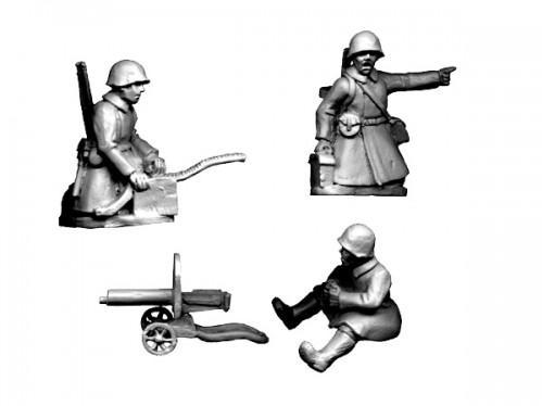 Crusader Miniatures: Russian HMG (Crew in Greatcoats) (4pcs)