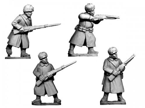 Crusader Miniatures: Russian Infantry in Coats and Fur Hats (4)