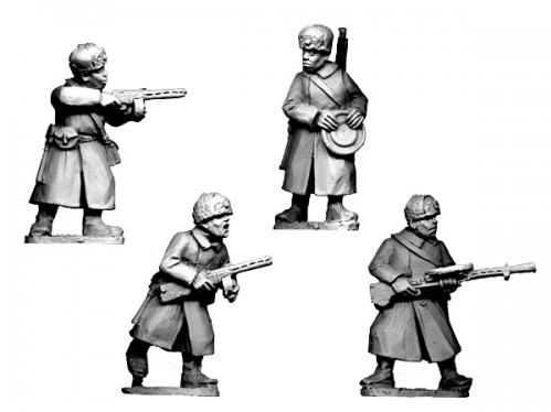 Crusader Miniatures: Russian Infantry SMGs & LMGs in Fur Hats (4)