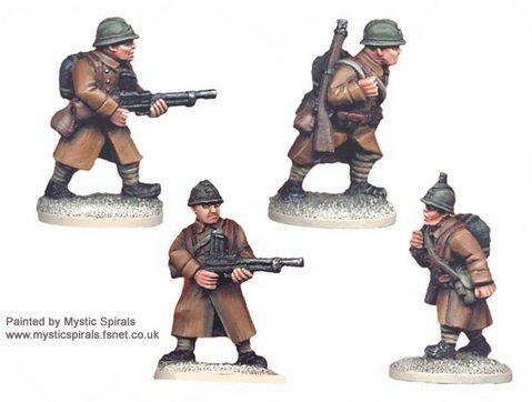 Crusader Miniatures: French LMG Teams (4)