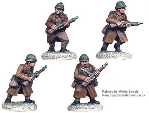 Crusader Miniatures: French Infantry with Carbines (4)