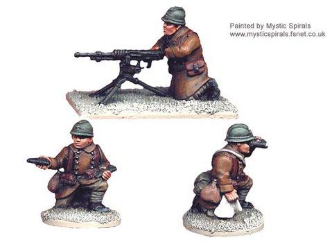 Crusader Miniatures: French Hotchkiss HMG (1 HMG, 3 crew)