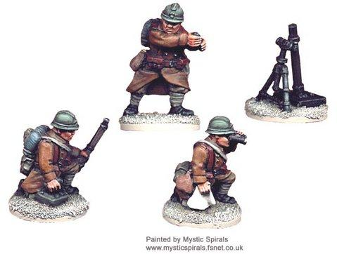 Crusader Miniatures: French 81mm Mortar (1 Mortar, 3 crew)