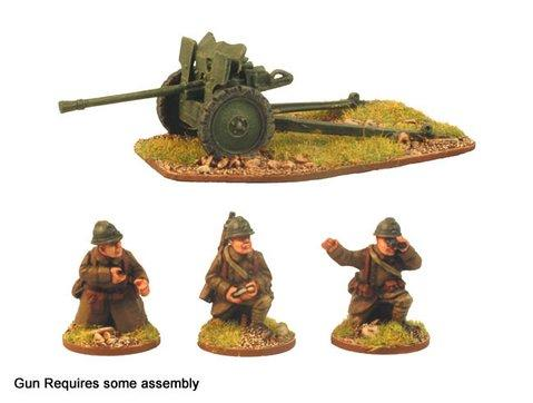 Crusader Miniatures: French 25mm AT Gun & 3 Crew