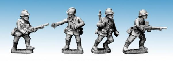 Crusader Miniatures: Dragon Portes LMG Teams (4)