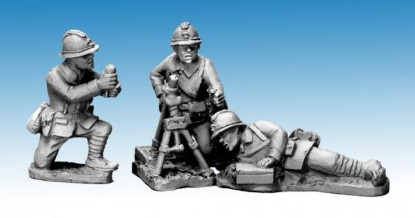Crusader Miniatures: Dragon Portes 60mm Mortar & Crew