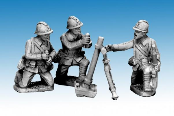 Crusader Miniatures: Dragon Portes 80mm Mortar & Crew