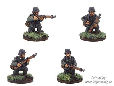 Crusader Miniatures: German Riflemen Kneeling (4)