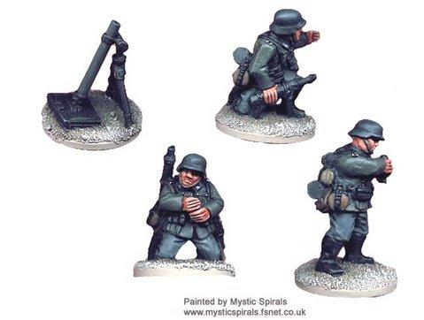 Crusader Miniatures: German 80mm Mortar (1 Mortar, 3 crew)