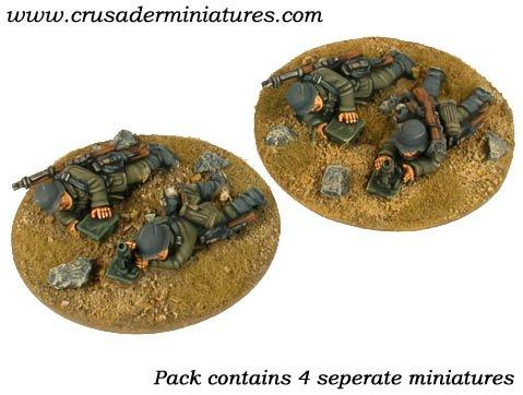 Crusader Miniatures: German 5cm Mortar Teams