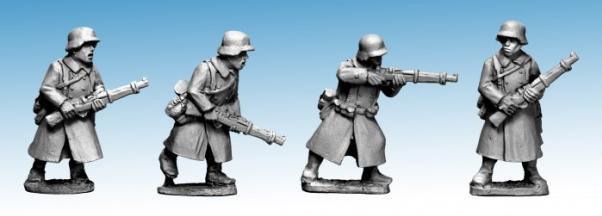 Crusader Miniatures: German Infantry in Greatcoats (Riflemen) (4)