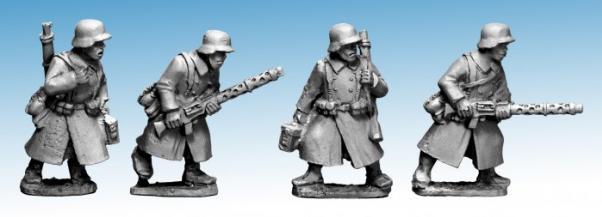 Crusader Miniatures: German Infantry in Greatcoats (LMG Teams) (4)