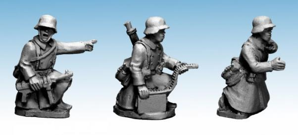 Crusader Miniatures: German Infantry in Greatcoats (HMG) (3)