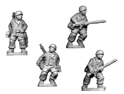 Crusader Miniatures: Fallschirmjager MG34 Teams (4)