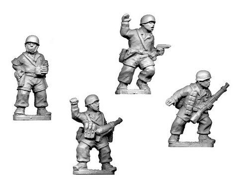 Crusader Miniatures: German Fallschirmjager Command (4)