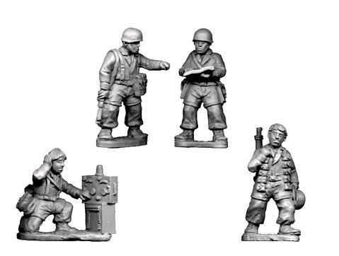 Crusader Miniatures: Fallschirmjager Headquarters (4)