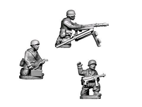 Crusader Miniatures: Fallschirmjager Static MG34 (4)