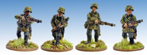 Crusader Miniatures: German Schützen with Rifles 1 (4)