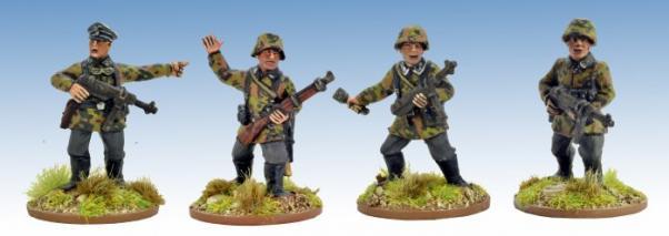 Crusader Miniatures: German Schützen Command (4)