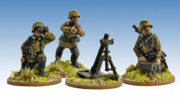 Crusader Miniatures: German Schützen Firing 8cm Mortar