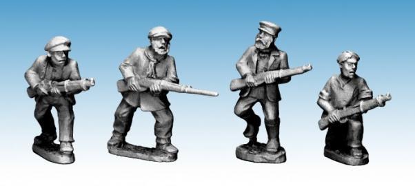Crusader Miniatures: Partisans with Rifles (4)