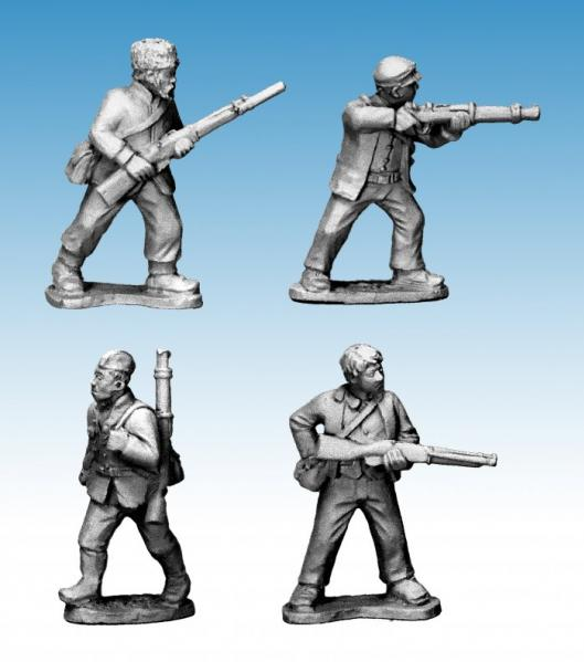 Crusader Miniatures: Partisans with Rifles II (4)