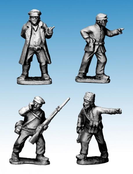 Crusader Miniatures: Partisan Commanders (4)