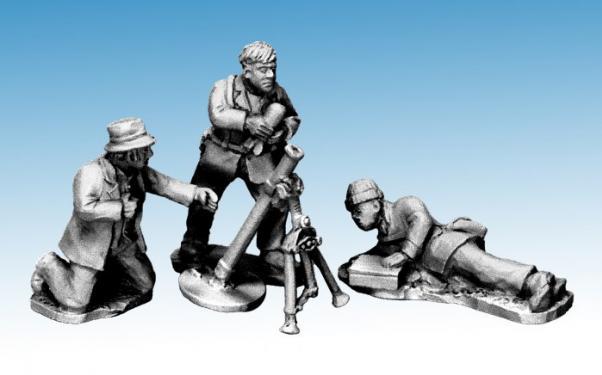 Crusader Miniatures: Partisans firing Mortar