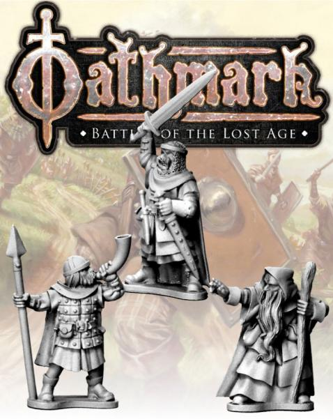 28mm Fantasy: (Oathmark) Human King, Wizard and Musician