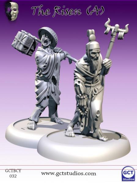 Bushido Miniatures: (Cult Of Yurei) The Risen A/2 (2)