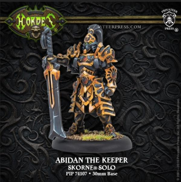 Hordes: (Skorne) Abidan the Keeper (1) (metal/resin)