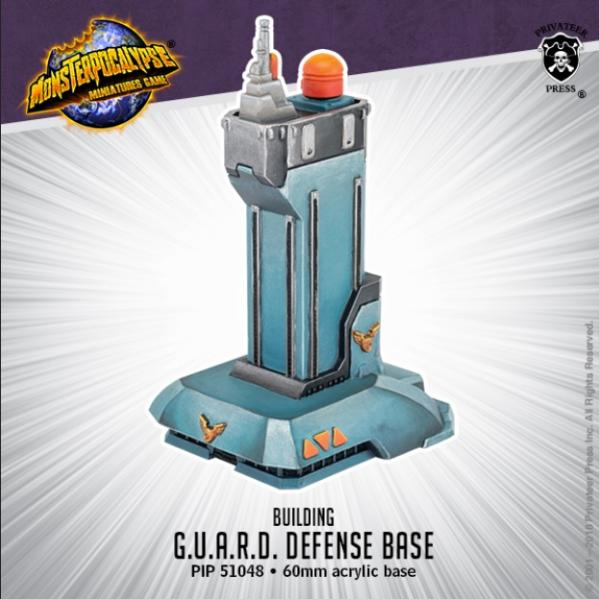 Monsterpocalypse: Buildings - G.U.A.R.D. Defense Base (resin)