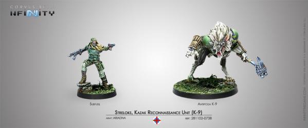 Infinity (#738) Ariadna: Streloks, Kazak Reconnaissance Unit (K-9) (2)