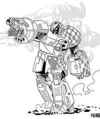 BattleTech Miniatures: Crusader CRD-8L Mech – 65 Tons - TRO 3085