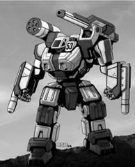 BattleTech Miniatures: Swordsman SWD-1 Mech – 40 Tons - XTRO Primitives IV
