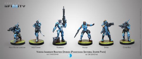 Infinity (#743) PanOceania: Varuna Immediate Reaction Division Starter Pack