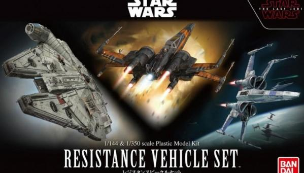 Bandai Hobby (Gunpla) Star Wars 1/144 scale: The Last Jedi - Resistance Vehicle Set