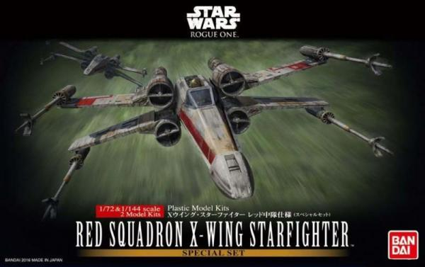 Bandai Hobby (Gunpla) Star Wars 1/72 scale: Red Squadron X-Wing Star Fighter Set