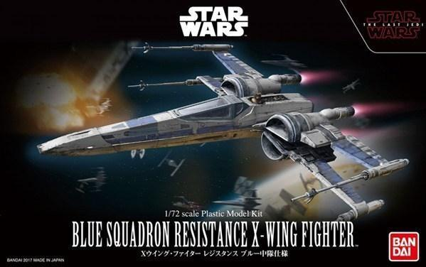 Bandai Hobby (Gunpla) Star Wars 1/72 scale: Blue Squadron Resistance X-Wing Fighter