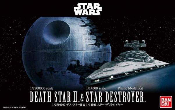 Bandai Hobby (Gunpla) Star Wars Vehicle: Death Star II and Star Destoyer Set (mini scale)