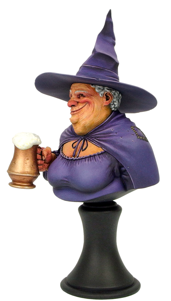 28mm Discworld Miniatures: Nanny Ogg Bust UNPAINTED (1)