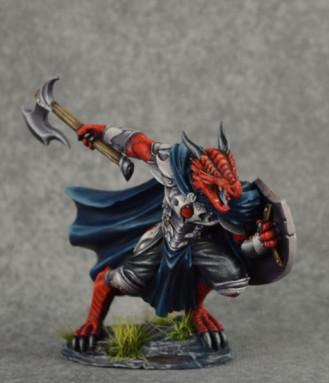 Visions In Fantasy: Male Dragonkin Paladin with Axe