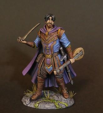 Visions In Fantasy: Male Bard with Pipe and Lute