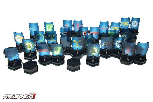 Infinity: (Terain) Sponsored Holobstacles (22) (pre-painted)