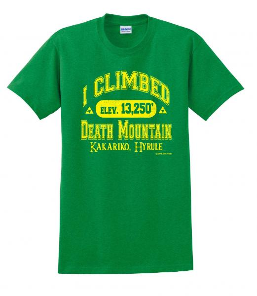 Gamer Shirts: I Climbed Death Mountain (Large)