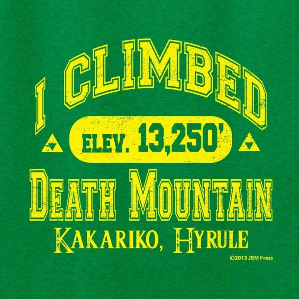 Gamer Shirts: I Climbed Death Mountain (Small)